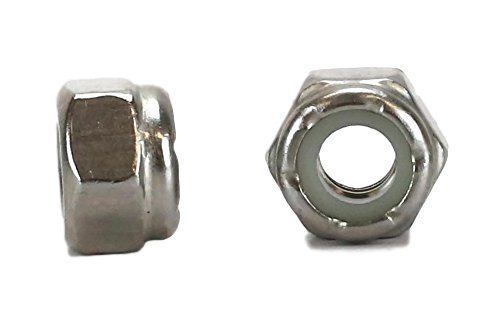 (Chenango Supply 18-8 1/4-20 Stainless Nylon Insert Lock Nuts, 100 pieces (1/4-20 NYLOCK))