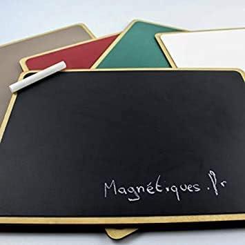 Noir, Format A4 Mini Tableau Magn/étique