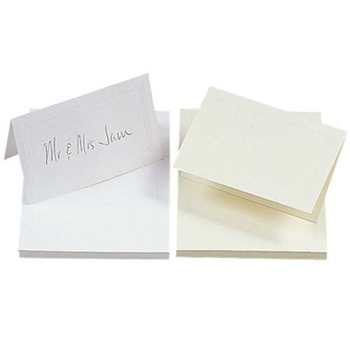 jam paper foldover table placecards 2 x 4 1 2 white with gold