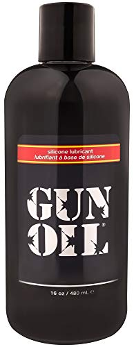 GUN OIL Silicone Lubricant - Hypoallergenic Silicone-Based Lubricant Enriched With Aloe Vera & Vitamin E For Maximum Comfort And Long-Lasting Lubrication ( 16 Fluid Ounce - 480 Milliliter )