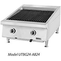 Garland UTBG36-AB36 Heavy Duty 36 Gas Countertop Charbroiler with Ceramic Briquette