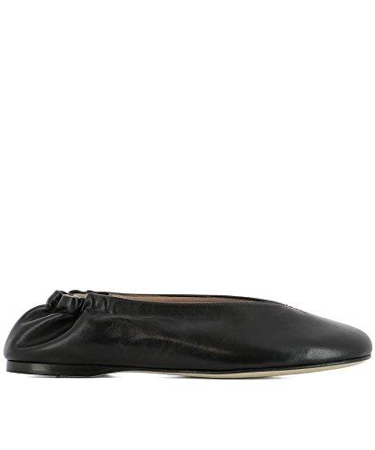 ACNE STUDIOS Women's 1EE176BLACK Black Leather Flats