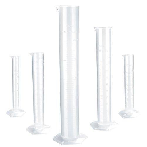 The 100ml Transparent Plastic Graduated Cylinder - 8