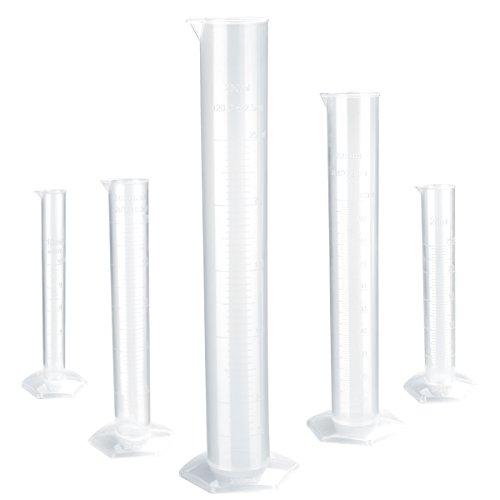The 100ml Transparent Plastic Graduated Cylinder - 9