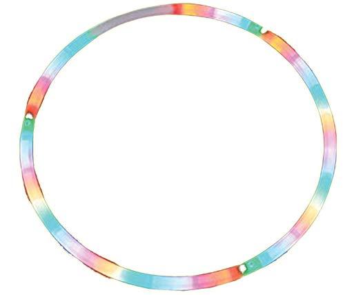 Hoop Fancy Twist - Rhode Island Novelty 28-Inch LED Light-Up Twist Hula Hoop | One Hula Hoop