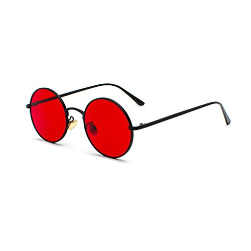 Las de Marco Primavera de de de Gafas Gafas la de Retros de Vendimia del HUACANG bisagra Redondas polarizadas Sol de de Gafas metálico Sol Red Lennon Sol la Black Gafas Fashion Unisex Sol UV400 la Hippie WngZOv7q