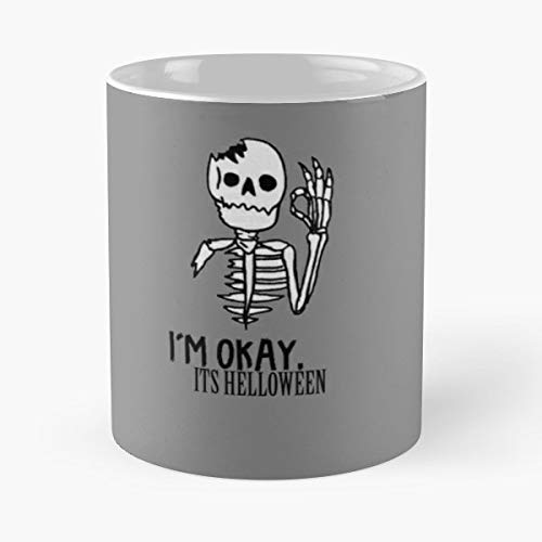 Halloween Vampir Pumpking Undead Witch Idea Present Scary Creepy - 11 Oz Coffee Mugs Unique Ceramic Novelty Cup, The Best Gift For Halloween. ()