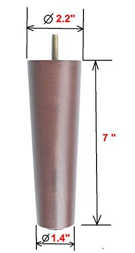 "Alemon 7"" Furniture Legs Sofa Replacement Parts Wooden Sofa Legs, Set of 4"