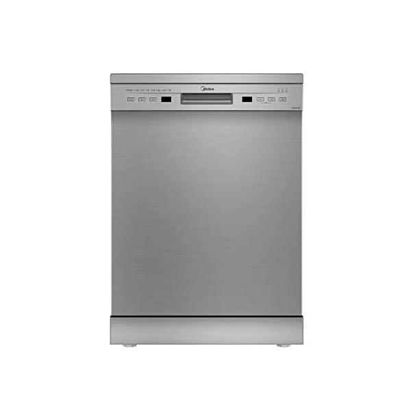 Midea 13 Place Setting Standard Dishwasher (WQP12-5201F, Silver)