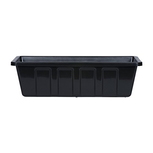 Novelty Poly-Pro Plastic Flower Box Planter, Black, 18-Inch ()
