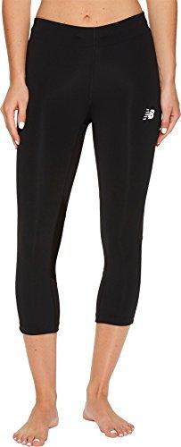 New Balance Women's Impact Capri Pants, Black, Small ()