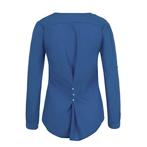 T Slim Longue Blouse Shirt Fille Tops Dcontracte et Chemise Automne Tous OVERMAL Vetements Bleu Bureau 1 Femmes Vrac Jours Les t Sexy 2018 Haut Mode Sexy Manches Chic en qFtwS6A