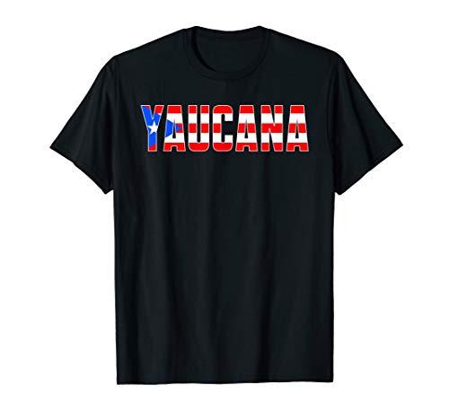 Camisa Boricua Puerto Rican Pride Flag Para Yaucanas T-Shirt