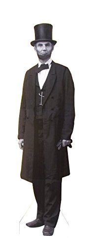 Aahs Engraving President Abraham Lincoln Life Size Carboard Stand Up, Black and White Print, 7 feet - Professional Life Lincoln