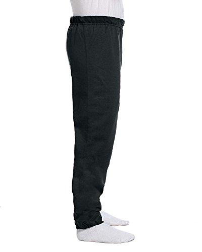 (Jerzees 8 oz, 50/50 NuBlend Fleece Sweatpants, 3XL, Black Heather)