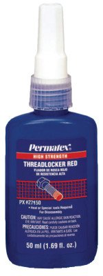 Permatex 27150 Red High Strength Threadlockers, 50 mL, 1
