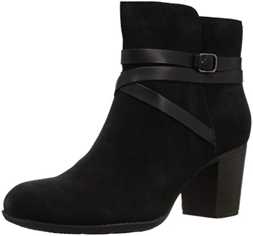 - CLARKS Women's Enfield Coco Fashion Boot, Black Suede/Leather Combi, 055 M US