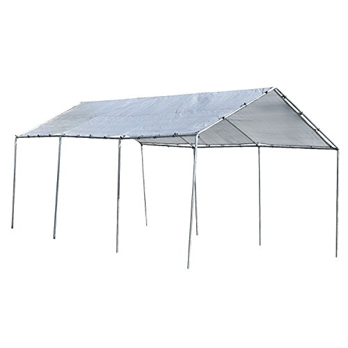 Heavy Duty All Purpose Canopy 12' ft. X 20' ft. 3 Section Car Port Flea Market (All Purpose Canopy)