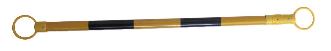 1 Enganche Amarillo//Negro Enganche extensible de conos de f/ácil transporte y almacenaje debido a su reducido peso Enganche extensible para conos Amarillo-negro