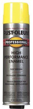 15 Oz Safety Yellow Professional High Performance Enamel Spray 7543-83 [Set of 6]