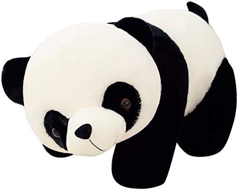 Poster seamless con con simpatici orsi panda cartone animato e