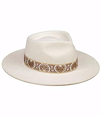 Lack of Color Women's The Beverly Vintage-Style Classic Wool Fedora - Off-White - Small (55 cm)