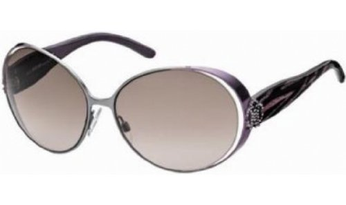 Roberto Cavalli Women's RC535 Round Sunglasses,Dark Ruthenium Frame/Gradient Brown Lens,one size