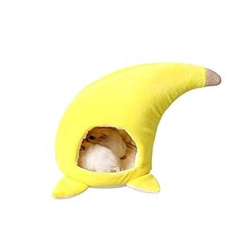 Petacc Hamster-warme Höhle für Haustiere mit kurzen Plüsch Haustier ...