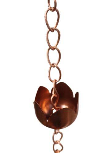 Regenketten - Lotusblumen-Regenkette - verkupfert Olive Grove