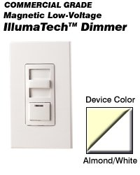 Leviton White Preset Dimmer Light Switch 3-Way Mag Low-Volt Incandescent 1000W