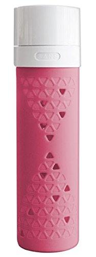 SANS Vacuum Pump Smoothie & Shake Saving Glass Bottle (16-Ounce, Watermelon Pink)