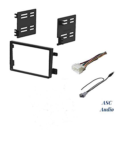 ASC Audio Car Stereo Dash Install Kit, Wire Harness, and Antenna Adapter for Installing an Aftermarket Double Din Radio for 2007-2011 Honda Element (No LX Model , No Factory Premium -