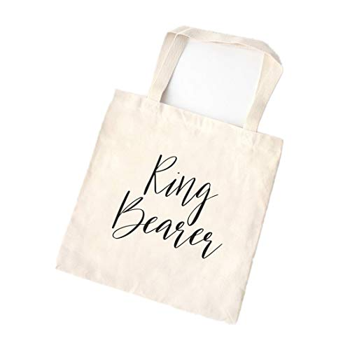 Ring Bearer Tote, Bridal Party Gift, Bridal Party Tote, Tote Bag, Canvas Bag, Canvas Tote Bag, Bridal Tote, Wedding Tote, Bridesmaid Gift (Ring Bearer Tote)