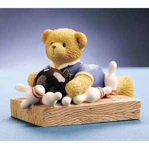 - Cherished Teddies BRYCE I Scored A Strike When I Met You Figurine