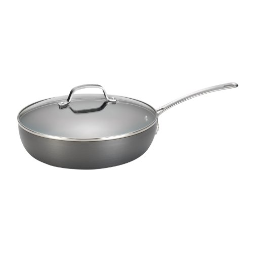 [Circulon Genesis Hard-Anodized Nonstick 12-Inch Covered Deep Skillet] (Stainless Deep Skillet)