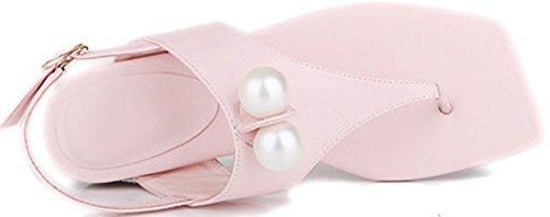 Laruise Rosa Sandal Perle Imitasjon Flat Tå Kvinners vSrqvga7