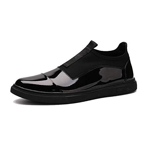 Moda Planos Comodidad Para Head Black Cuero Zapatos Los La Hombres De Ocasionales Redondo qOzwS6Yx