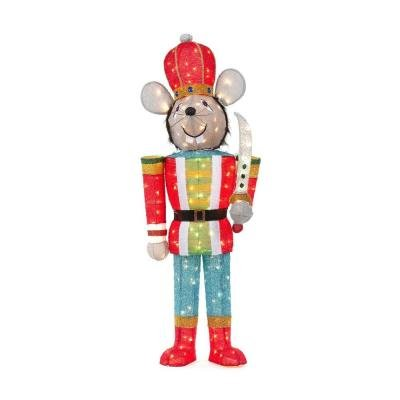 5 Ft Pre Lit Tinsel Mouse Soldier Lighted Scultpure by Home Accents (Image #2)