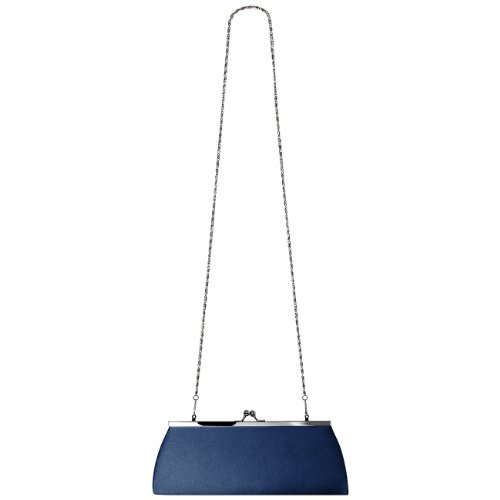 Ta309 Raso In Donna Blu Scuro Clutch Caspar Rvdqw1R