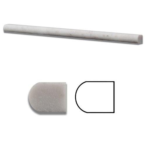 Bianco Venatino Marble Honed 1/2 X 12 Pencil Liner Trim Molding - Standard Quality - BOX of 15 PCS. -