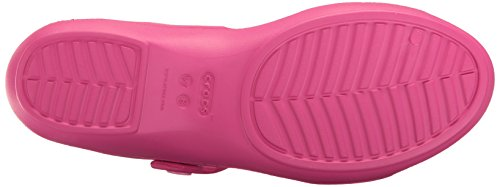 Crocs 204268, Sandalias Planas Mujer Rosa (Candy Pink/Party Pink)