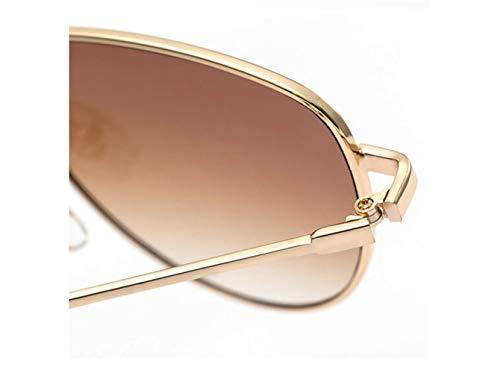 Código Europeo Moda Gafas Sol Y Cejas Caja De Sol De liwenjun Tabletas Estilo Tendencia Té Nuevas Dorado Americano Marco Gafas Estilo Extranjero q1tOXA