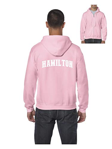 Hamilton City Ontario Canada Traveler Gift Men's Full-Zip Hooded (SAP) Azalea Pink]()