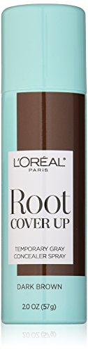 L'Oreal Paris Root Cover Up Temporary Gray Concealer Spray, Dark Brown 2 oz.