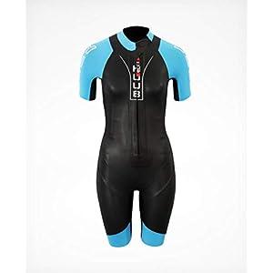 Huub Auron 3:5 Womens SwimRun Wetsuit, Black/Blue, ML