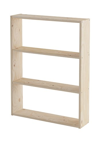 Lufe Shelf Basic 80, Pine, brown, 21 x 84 x 110 cm by Lufe