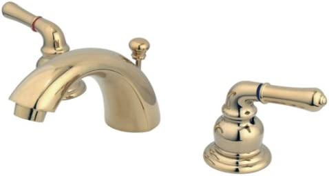 "Kingston Brass Magellan Two Handle 4/"" to 8/"" Mini Widespread Lavatory Faucet w..."