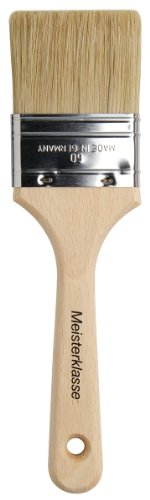 Varnish Flat Brush (da Vinci Varnish & Priming Series 2410 Lacquering Brush, Six Fold Thickness Flat Hog Bristle with Plainwood Handle, Size 60 (2410-60))