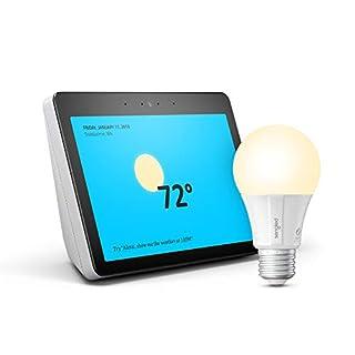 Echo Show (2nd Gen) Sandstone Bundle with Sengled Smart LED Bulb - Alexa smart home starter kit
