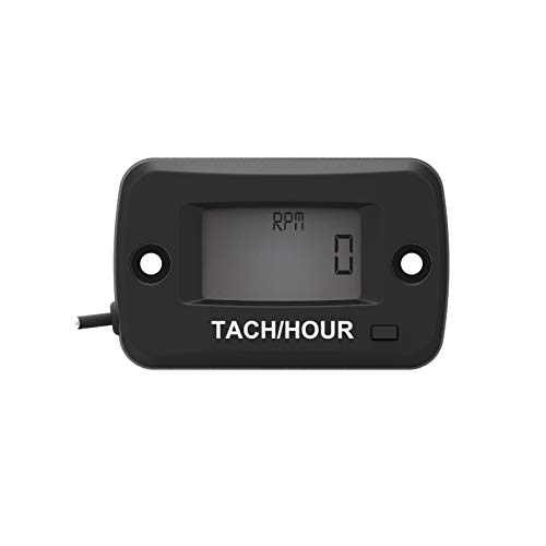 Inboards and Outboards Pumps Generators Mower Model Boats Runleader Digital Lcd Gasoline Tach//Hour Meter Chainsaw Hour Meter Motorcycle Tachometer for Paramotors Microlights Marine Engines